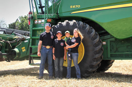 Wilfong family visits Kansas Harvester
