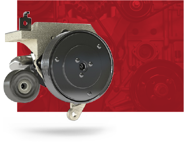 Clutch pump kit rendering on a red background