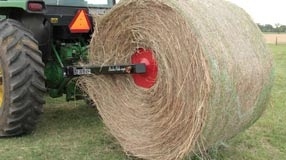 Front end loader bale handling equipment