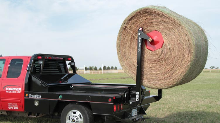 bale hauler bolt on conversion by deweze two bale hay loader
