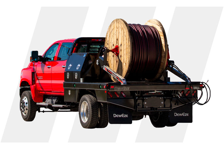 premium provider for hay handling and hydraulics by deweze deweze reel transport bed